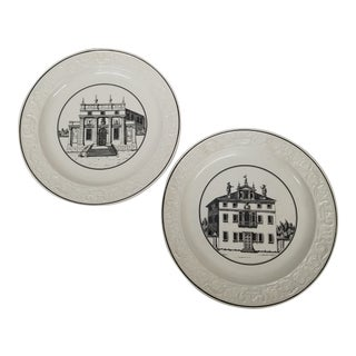 1950s Mottahedeh Classical Creil Style Plates - Set of 2 For Sale
