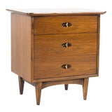 Image of 1960s Mid Century Modern Kent Coffey Greenbrier Walnut Nightstand For Sale