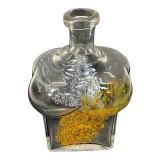 Kosta Boda Mid Century Bertel Vallien Swedish Art Glass Vase For Sale