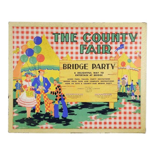 Complete 1930's Bridge Party Set Country Fair For Sale