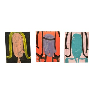 "Gary Komarin Contemporary Paintings, ""The Whig Party"" - 3 Pieces"