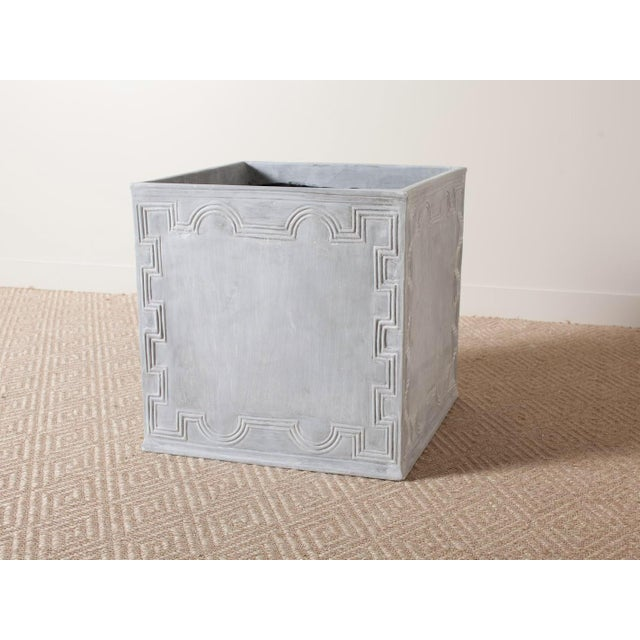 Square Resin Elizabethan II Planter For Sale - Image 4 of 4
