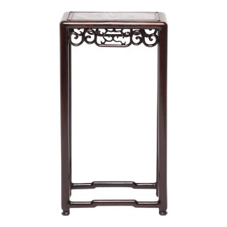 Chinese Marble Top Deco Plant Stand For Sale