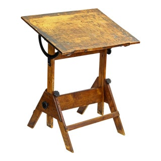 Vintage Adjustable Height Drafting Table