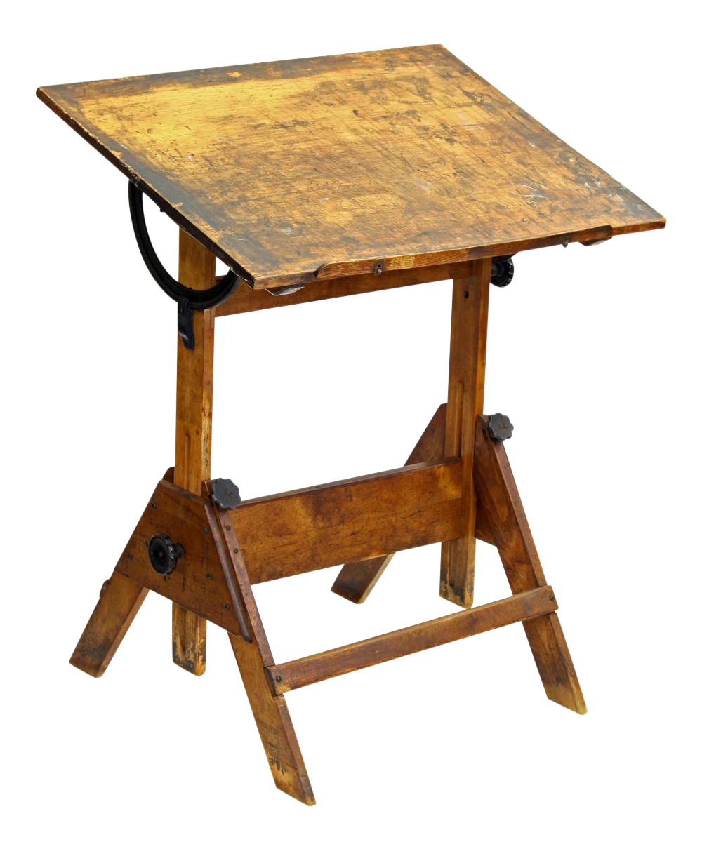 Delightful Vintage Adjustable Height Drafting Table