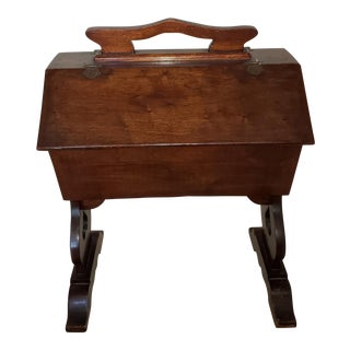 Vintage Wood Sewing Stand For Sale