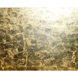 "Monumental, Contemporary ""Gold"" Gold Leaf Canvas by Martha Holden For Sale"