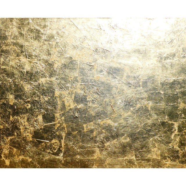 """Monumental, Contemporary """"Gold"""" Gold Leaf Canvas by Martha Holden For Sale"""