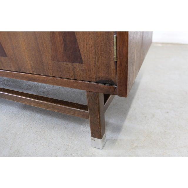 Mid-Century Danish Modern 4-Door Parquet Walnut Credenza Sideboard For Sale - Image 10 of 13