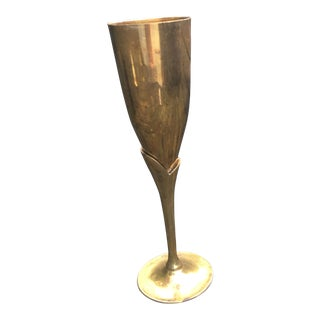 Vintage Brass Goblet For Sale