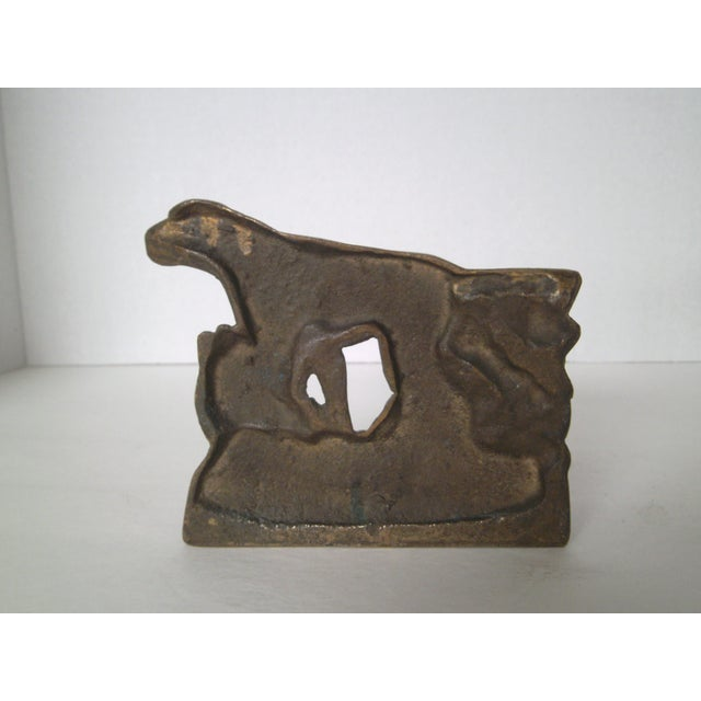 1920s Bronze Pointer Bookends - A Pair - Image 5 of 6
