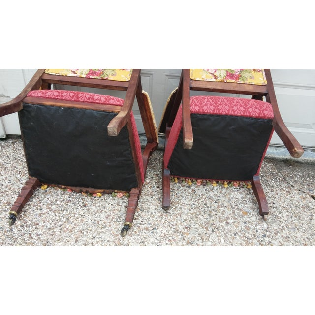 Vintage Eastlake Armchairs - A Pair - Image 6 of 11