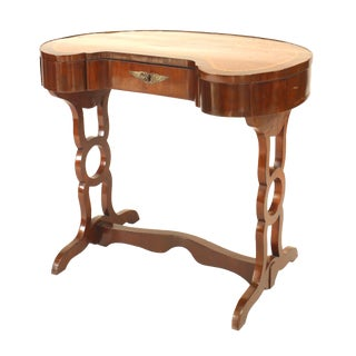 18th Century Russian Walnut Marquetry Kidney Desk For Sale