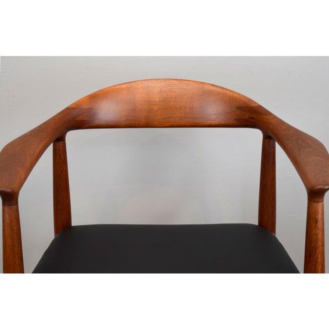 Animal Skin Early Hans Wegner for Johannes Hansen Jh-503 'The Chair' in Teak & Leather For Sale - Image 7 of 13
