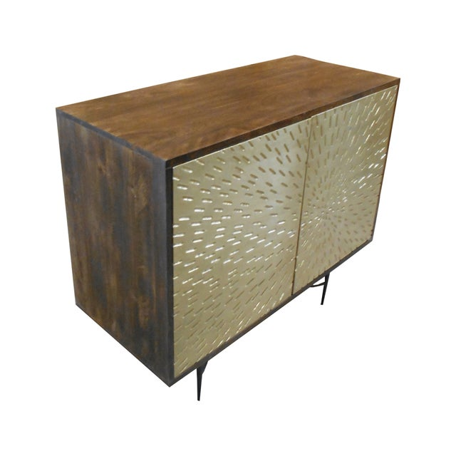 Contemporary Wooden Metal Living Room Cornell Chest Cabinet - Image 3 of 10