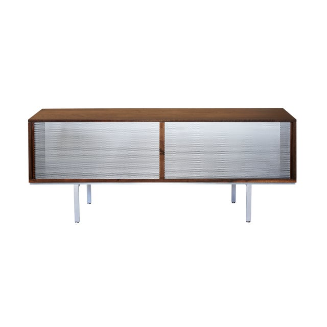 Symm Credenza with Perforated Metal Doors - Image 2 of 2