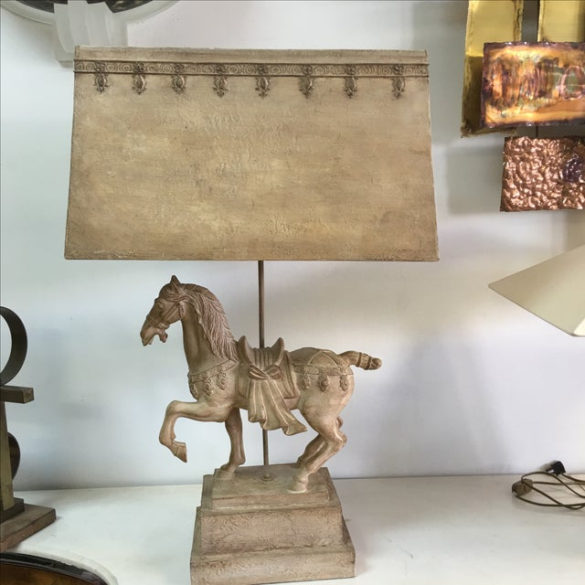 1940s Plaster Lamp of Imperial Horse - Image 2 of 8