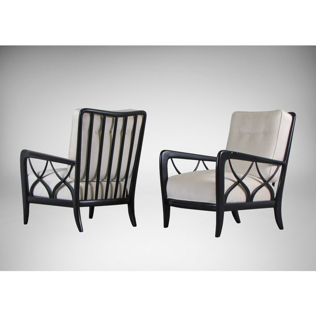 1950s Paolo Buffa Style Lacquered Italian Lounge Chairs - A Pair - Image 2 of 8