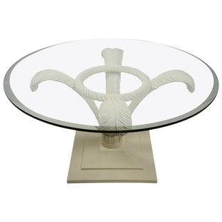 Pix Hollywood Regency Style, Prince of Wales Plume Cocktail Table in White Lacquer: Grosfeld House For Sale