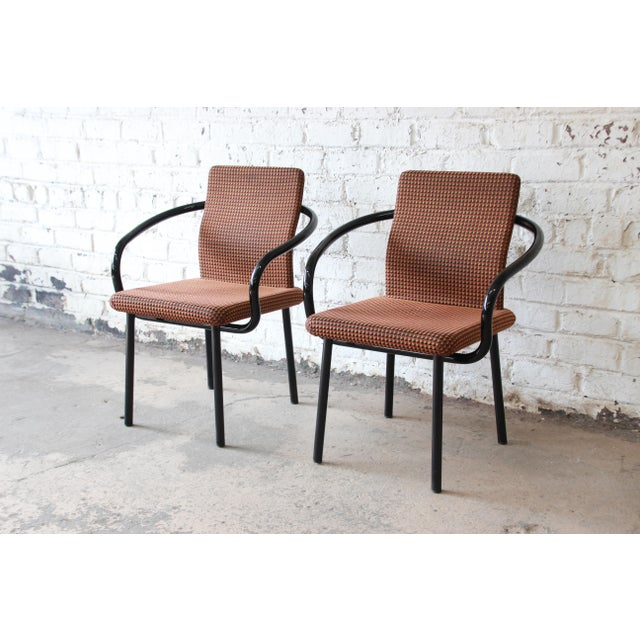 """Ettore Sottsass for Knoll """"Mandarin"""" Armchairs - a Pair For Sale - Image 11 of 11"""