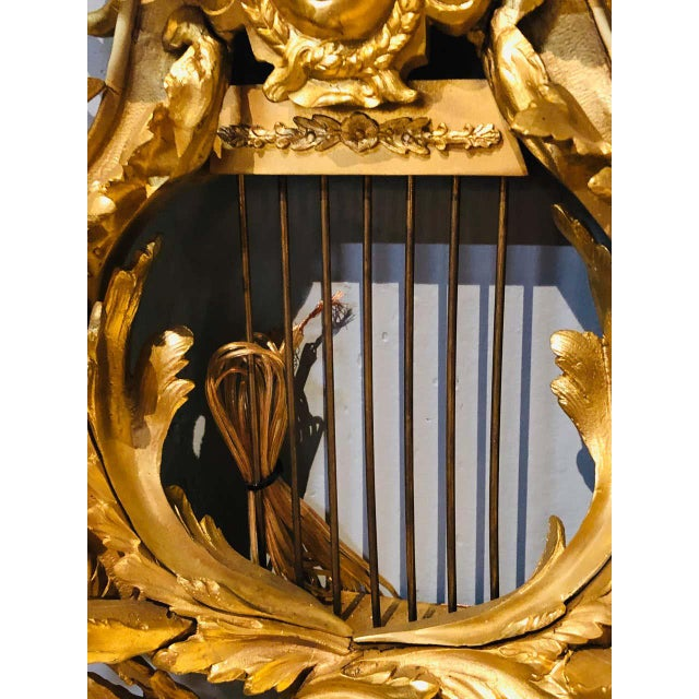 Pair of Four-Light Louis XVI Style Bird & Face Mounted Gilt Bronze Wall Sconces For Sale - Image 10 of 13