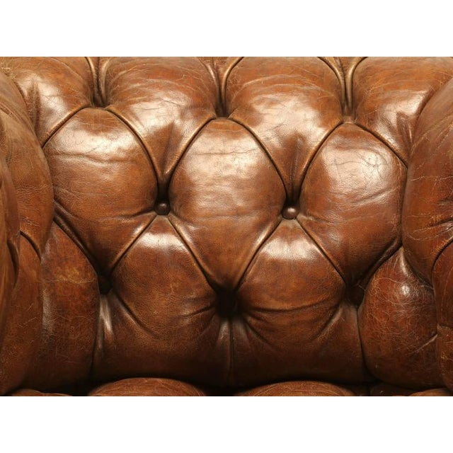 Late 19th Century Original Leather Antique Chesterfield Chair For Sale - Image 5 of 11