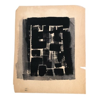 Original Vintage Bernard Segal Abstract Small Double Sided Painting For Sale