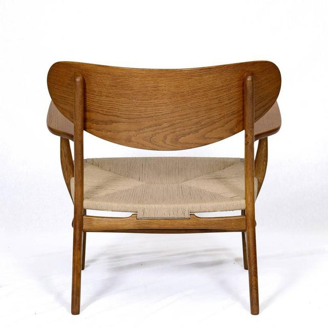 Wood Hans Wegner CH-22 Lounge Chair For Sale - Image 7 of 10