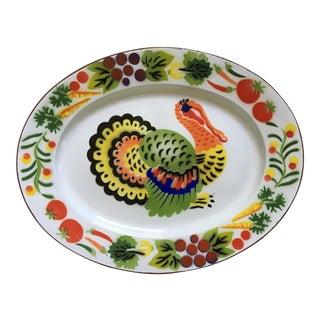 Vintage 1950's Graniteware Turkey Platter