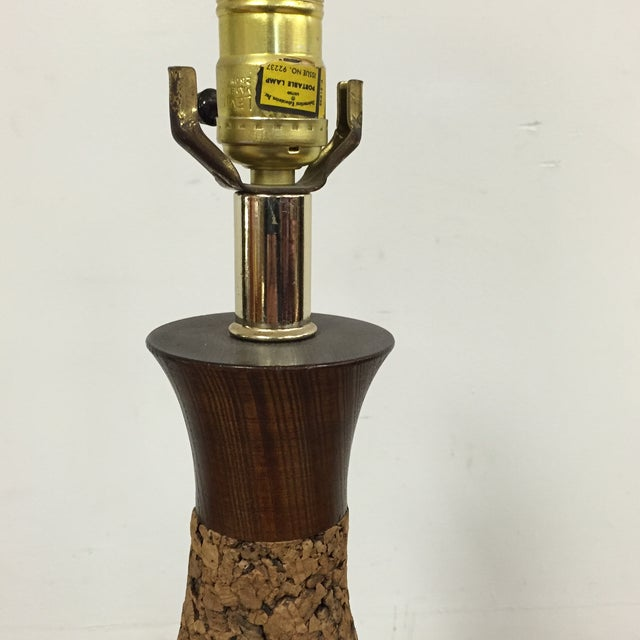 Mid-Century Cork Table Lamp - Image 4 of 8