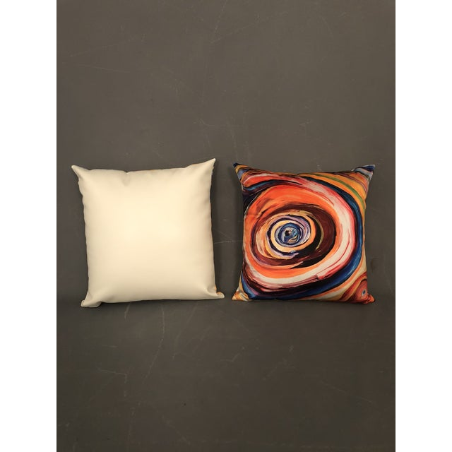 """Bruce Mishell"" Modern Hand Made Abstract Art Print Pillows - a Pair For Sale - Image 4 of 6"