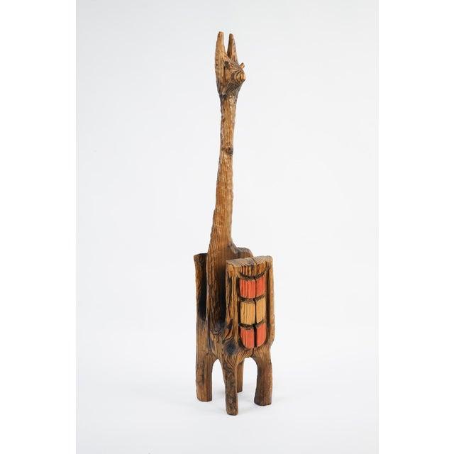 Vintage Mid-Century Wood Llama Magazine Caddy For Sale - Image 9 of 10