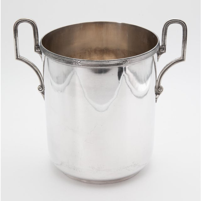 Mid 20th Century Vintage French Silver Plate Neoclassical Champagne Bucket For Sale - Image 4 of 12