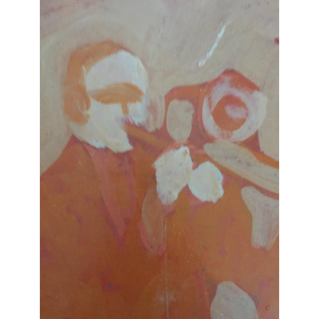 Mid Century Bay Area Figurative Musicians Painting - Image 7 of 10