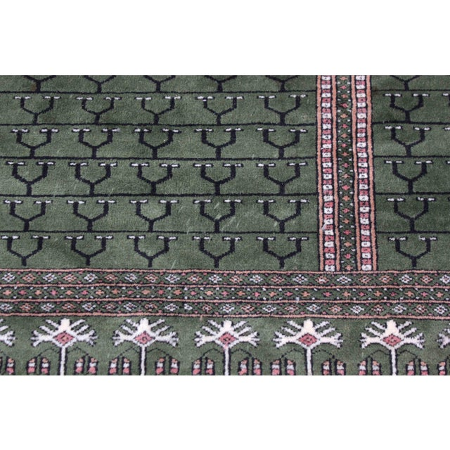 Traditional Hand-Knotted Pakistan Bokhara Rug For Sale - Image 3 of 9
