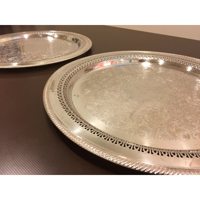 W.M. Rogers Silverplate Trays #162 & 4272p - Pair - Image 3 of 10