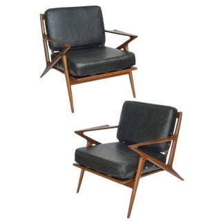 Pair of Poul Jensen for Selig Z Chairs For Sale