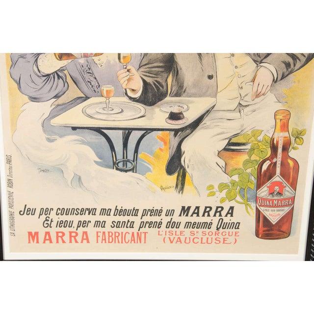 "Early 20th Century Gorgeous Belle Époque Poster by Francisco Tamagno ""Demandez Un Marra"" For Sale - Image 5 of 9"