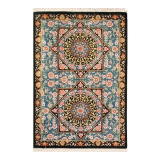 "Pasargad Qum Collection Silk Rug- 1'10"" X 2' 8"" For Sale"