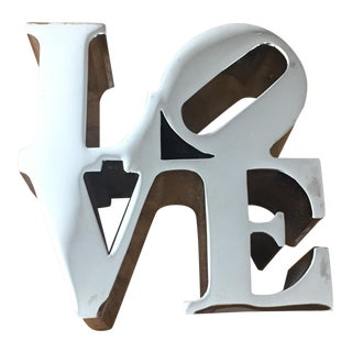 Robert Indiana Love Sculpture For Sale