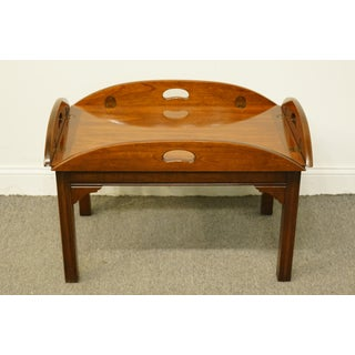 1960s Traditional Thomasville Furniture Collector's Cherry Coffee Table Preview