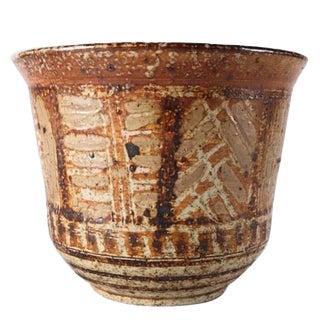 Mid-Century Modern Hand-Thrown and Glazed Studio Pottery Tribal Pot