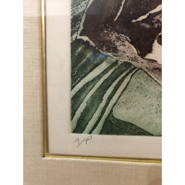 """1970s Vintage Artist Proof """"Orchid Mirror Variation"""" Print by Lois Polansky For Sale - Image 4 of 8"""