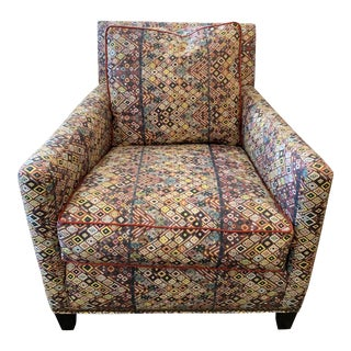 Custom Club Chair in St. Frank Fabric For Sale