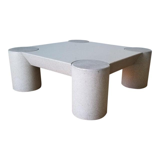 1980s Karl Springer Style Italian Postmodern Coffee Table For Sale