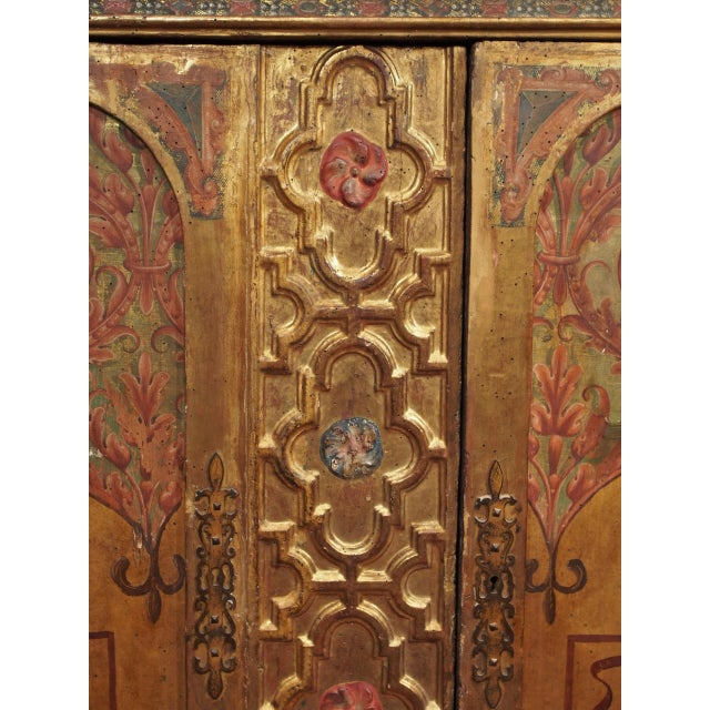 Paint Italian Polychrome Two Door Cabinet For Sale - Image 7 of 11