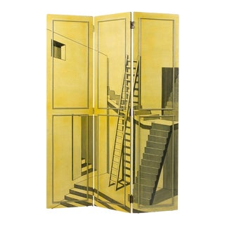 Trompe L'oeil Screen or Room Divider in the Manner of Piero Fornasetti For Sale