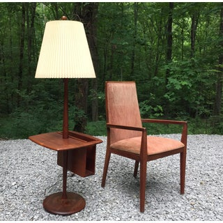 1960's Laurel Walnut Floor Lamp & Table With Magazine Rack Preview