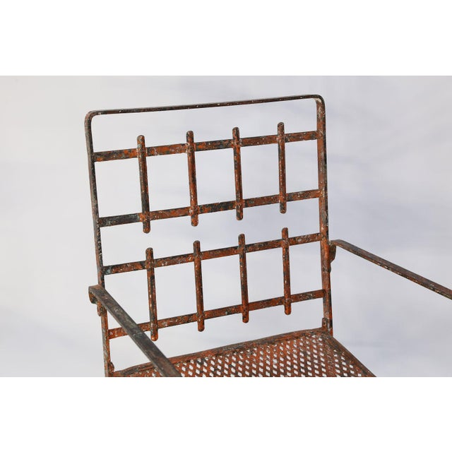 Pair of French Iron Garden Chairs For Sale - Image 9 of 13