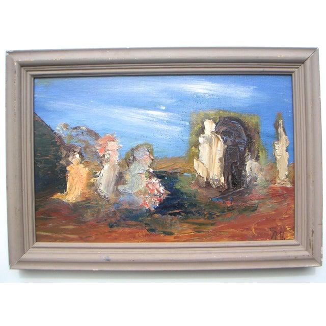 """San Francisco Surrealism"" Painting by Nancy Upstill - Image 2 of 6"